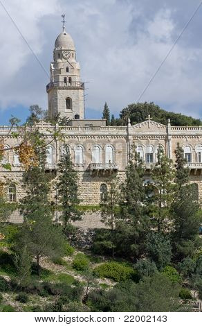 Dormicion Church And Abbey In Jerusalem