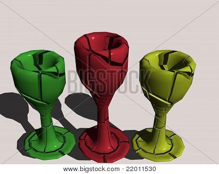 Three wine glass