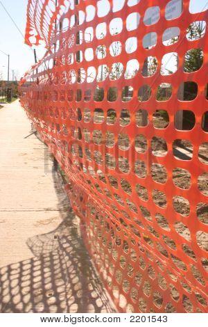 Orange Construction Fence