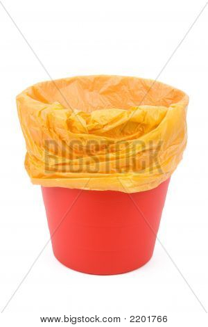 Red Garbage Can