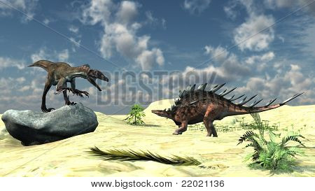 utahraptor and kentrosaurus