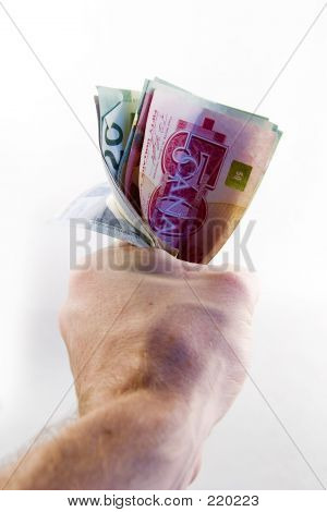 Fist Full Of Canadian Money