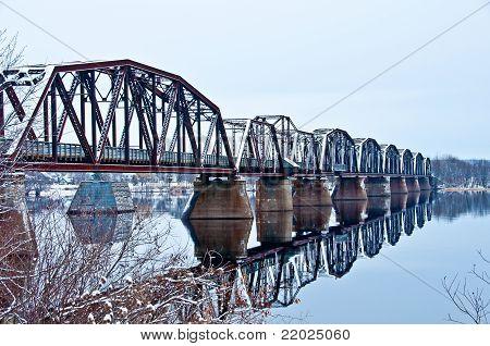 Puente del tren de Fredericton