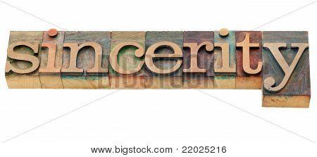 Sincerity Word