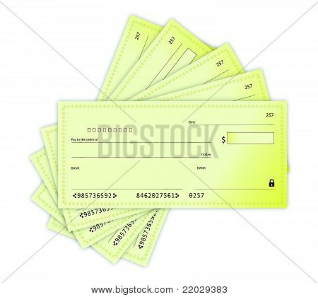 Money Checks illustration design over a white background