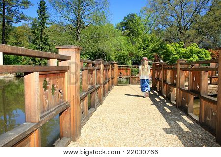 Walking Alone On A Bridge