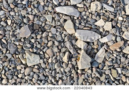 the Road stone gravel texture to background