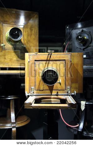 Very Old Wooden Camera