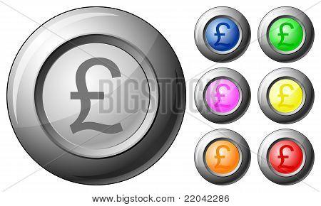 Sphere Button British Pound