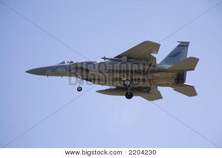 Kampfjet Landung