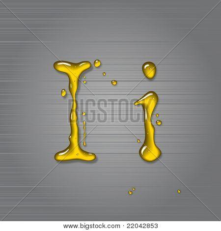Vector fluid oil letter