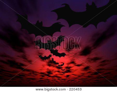 Morcegos Halloween