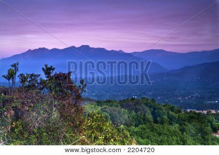 Overlooking The Ojai Valley
