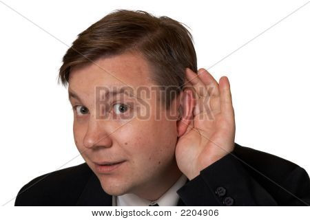 Men In Listening Pose