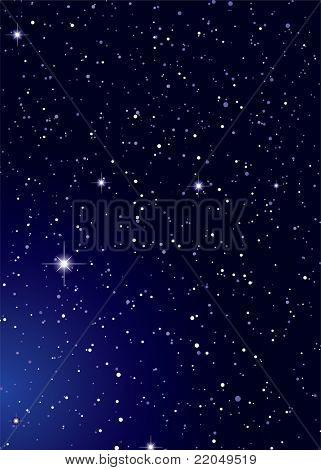 Dark nights sky with stella galaxy and twinkle stars