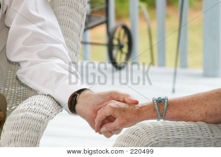 Seniors Holding Hands