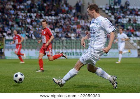 KAPOSVAR, HUNGARY - MAY 14: Bojan Pavlovic (22) in action at a Hungarian National Championship soccer game - Kaposvar vs Szolnok on May 14, 2011 in Kaposvar, Hungary.