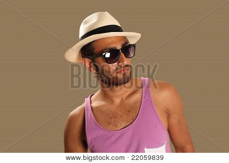 Ethnic man casual fashion