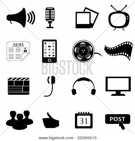Media Or Multimedia Icons
