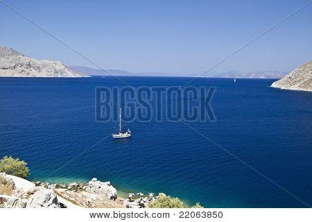 Blue Aegean Sea