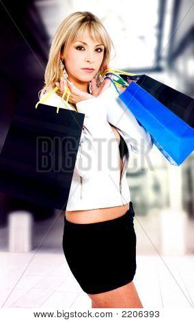Fashion Girl Out Shopping