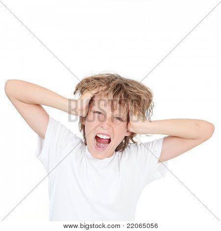 boy or kid shouting