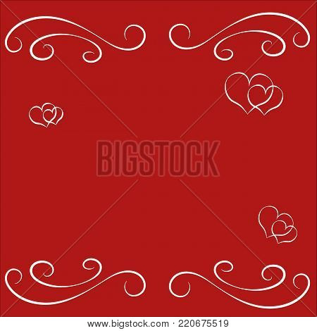 Abstract Happy Valentine Day Empty Vector  Photo  Bigstock