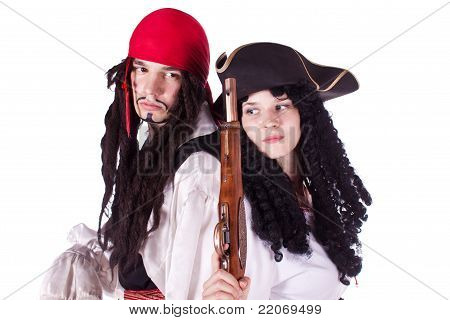 Pirate man and woman