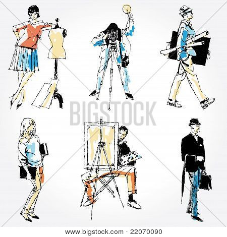 People Of Different Professions-Vector Collection
