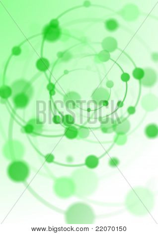 Abstract Background With Green Spiral Lights