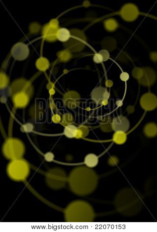 Abstract Background With Color Spiral Lights