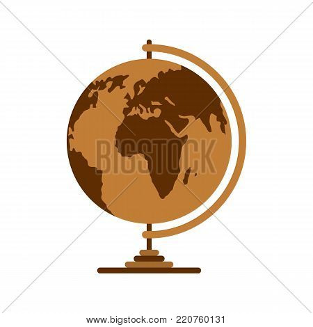 poster of Geography icon. Flat illustration of geography vector icon isolated on white background