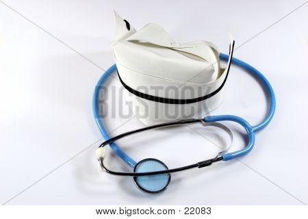 Nursing Hat & Stethoscope