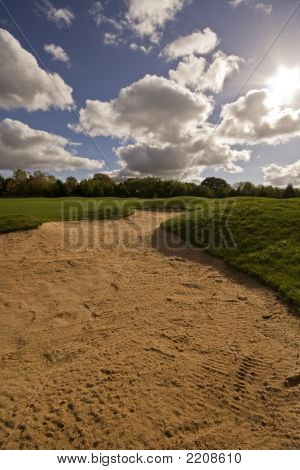Sandbunker de golfe