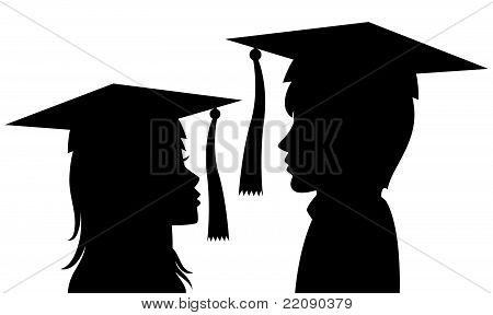 Graduates Young Man And Woman