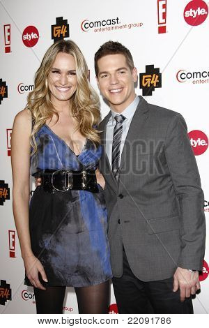 PASADENA - JAN 5: Jason Kennedy and Ashlan Gorse at the Comcast Entertainment Group TCA Cocktail Reception held at the Langham Hotel, Pasadena, California on January 5, 2011