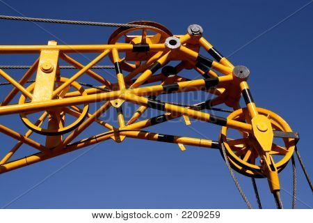 Yellow Industrial Crane