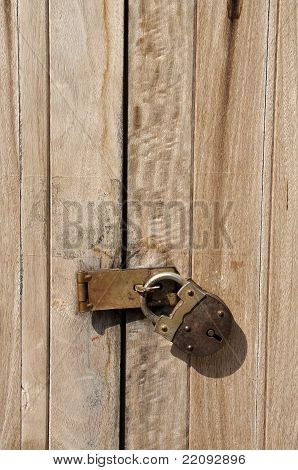 Old Key Vintage Lock Door Wood