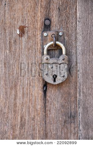 Old Key Vintage Lock Wood Door