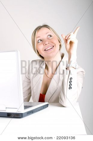 Young Business Woman On A Laptop