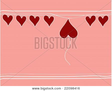 Hearts on pink backgrounds
