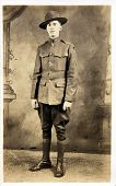 picture of world war one  - Early 1900 photograph of soldier from World War One - JPG
