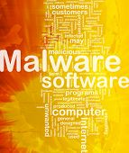 Background concept wordcloud illustration of malware international