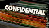 Confidential File Folders Personal Documents 3d Illustration poster