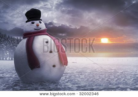 Happy Winter Snowman