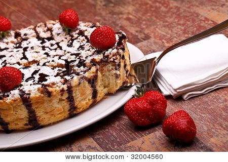 Cheesecake With Chocolate Top