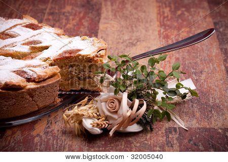 Pedazo de Pastiera Italiano