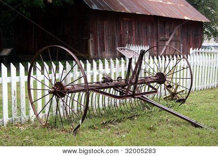 Antique agricultural equipment