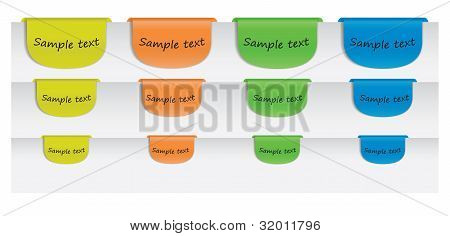 Colored Text Labels On Paper