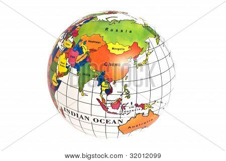 Mapa do hemisfério Oriental